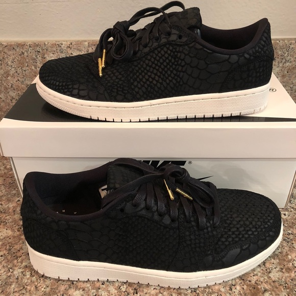 half off b08ea e3c33 New Jordan 1 Retro Low NS NRG Black Python $130 NWT